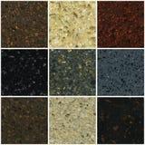 Natural stone seamless texture set #1 Royalty Free Stock Photo