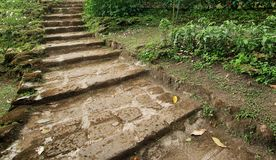 Natural stone stairs landscaping Royalty Free Stock Photo