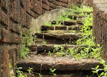 Natural stone stairs landscaping Royalty Free Stock Photography