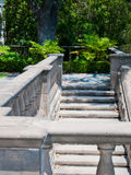 Natural stone stairs landscaping. In home garden Stock Image