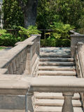 Natural stone stairs landscaping. In home garden Royalty Free Stock Photos