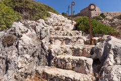 Natural stone stairs Stock Photo