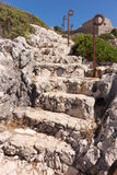 Natural stone stairs Royalty Free Stock Images