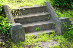 Natural stone stairs Stock Photography