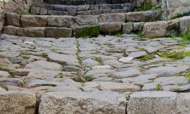 Natural stone stairs in an old town - Background Stock Photography
