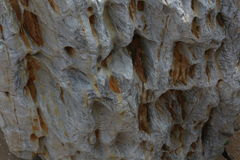 Natural stone structure. Picture of natural stone structure with iron Royalty Free Stock Photos