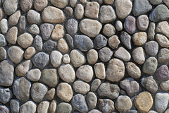 Natural stone support wall Royalty Free Stock Photo