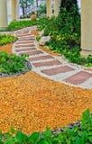 Natural stone walkway decorative Royalty Free Stock Image