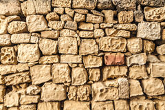 Natural stone wall background Royalty Free Stock Photos