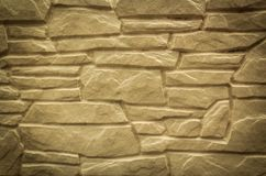 Natural stone wall for modern outdoor interior Royalty Free Stock Photo