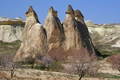 Natural stones in Cappadokia Stock Photography