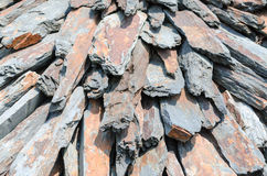 Natural stones. Carefully piled stone slabs in a heap Royalty Free Stock Image