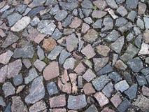 Natural stones pavement Stock Photos