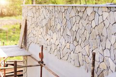 Natural stones on a wall Stock Images