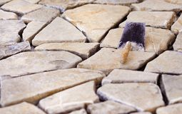 Natural stones on a wall Royalty Free Stock Photo
