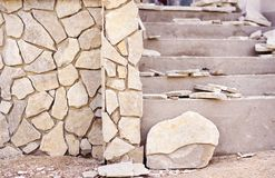 Natural stones on a wall Royalty Free Stock Photography