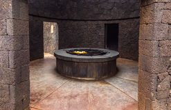 Natural stove at Timanfaya national park Stock Photos