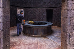 Natural stove at Timanfaya national park Royalty Free Stock Photos