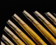 Natural straw object background photograph. Straw isolated black background photograph stock photography