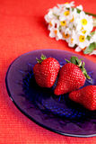 Natural Strawberries Royalty Free Stock Image