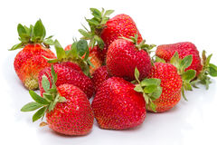 Natural strawberry on white Stock Images