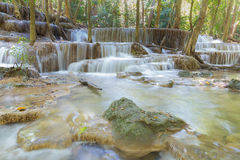 Natural stream waterfall in deep forest national park of Thailand Royalty Free Stock Photos