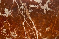 Natural structure brown marble texture with white streaks stock photo