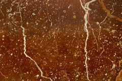Natural structure brown marble texture with white streaks stock image