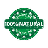 Natural Stump on a white background. 100 Natural Stamp Shows Pure Genuine Products Stock Photography