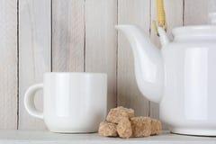 Natural Sugar Cubes and Tea Royalty Free Stock Photo