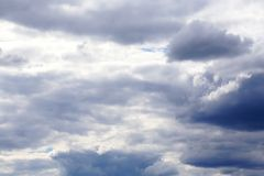 A natural summer background with a cloudy sky before a thunderst Royalty Free Stock Image