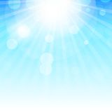Natural Sunny  Background Vector Illustration Royalty Free Stock Photo