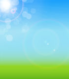 Natural Sunny Background Vector Illustration Stock Photos