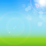Natural Sunny Background Vector Illustration Stock Image