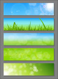 Natural Sunny Backgroundc Banner Vector Stock Photos