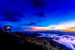 Natural Sunset Sunrise.Phu Thap Boek,Phetchabun Mountains.Landscape Sky At Sunset Dawn Sunrise. Unseen Thailand Stock Images