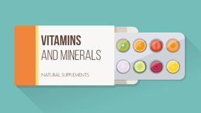 Natural supplements vector illustration