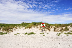 Natural swedish beach in summertime Stock Photo