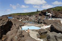 Natural swimming pool in Faial Stock Image