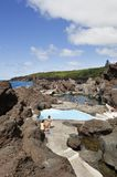 Natural Swimming Pool In Faial Stock Photo