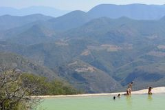 Natural swimming Pool. In Oaxaca Royalty Free Stock Images