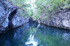 Natural swimming pool, Playa Larga Stock Photo