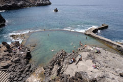 Natural swimming pool in the rock Stock Image