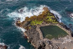 Natural swimming pools on Tenerife island royalty free stock images