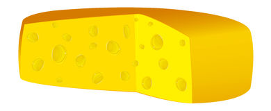 Natural swiss dairy cheese Royalty Free Stock Photos