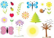 Natural symbols. royalty free illustration