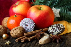 Natural tasty christmas decoration Royalty Free Stock Images
