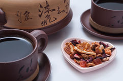 Natural tea with dried fruit Stock Photo
