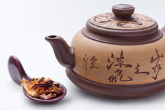 Natural tea with dried fruit Royalty Free Stock Photos