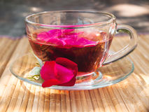 Natural tea from rose-petals Stock Photography